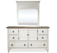 Myra Door Dresser Natural/Paperwhite finish