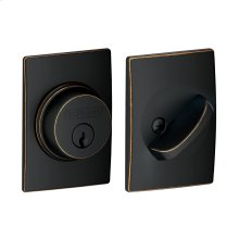 Single Cylinder Deadbolt with Century trim - Aged Bronze