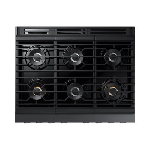 "36"" Dual Fuel Professional Range in Matte Black Stainless Steel"