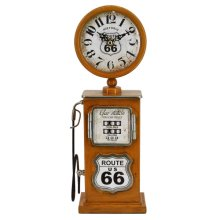 Route 66 Yellow Table Top Clock