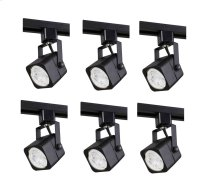 "MATTE BLACK TRACK HEAD, 120V, FITS GU10, (LIGHT SOURCE NOT INCLUDED)L2.94"" W2.31"" H5.75"" 6 PACK"