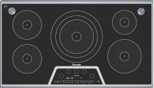 """CIS365GB Masterpiece 36"""" Induction Cooktop with Sensor Dome Black with Stainless Steel Frame"""