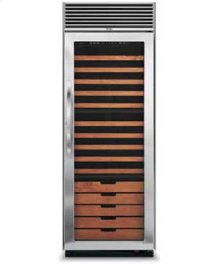 "30"" Full-Height Wine Cellar - DDWB (Fluted glass (left hinge))"