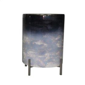 """Dark Ombre Glass Planter 14.5"""""""