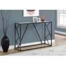 "ACCENT TABLE - 44""L / BLACK NICKEL METAL / MIRROR TOP Product Image"