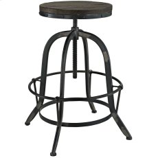 Collect Wood Top Bar Stool in Black Product Image