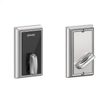Schlage Control Smart Deadbolt with Addison trim - Bright Chrome