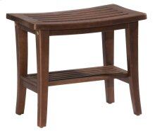 Preston Backless Non-swivel Rectangle Bath Stool - Walnut
