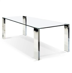 Marilynn - Rectangular Glass Top Dining Table