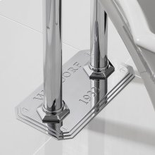 Waldorf Plate for Floor-mount Pillar Legs - Polished Chrome