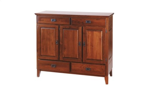 3 Door Dining Chest W/Raised Panel Sides & Doors