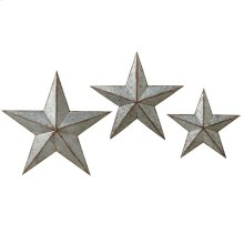 Galvanized Star Wall Decor (3 pc. set)