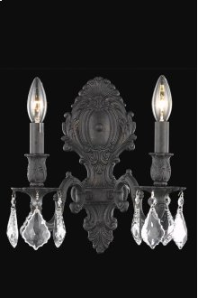9602 Monarch Collection Wall Sconce Dark Bronze Finish