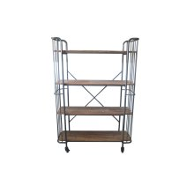 Emerald Home Ac102-60 Winston Bookcase, Patina Gray