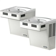 Elkay Wall Mount Bi-Level ADA Cooler, Non-Filtered 8 GPH Stainless