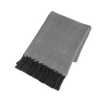Grey & Black Chevron Throw