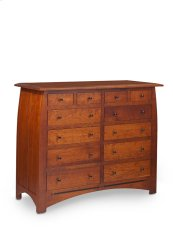 "Aspen 12-Drawer Bureau with Inlay, 60""w, Cherry #26 Michael's, Aspen 12-Drawer Bureau with Inlay, 60""w, Cherry"