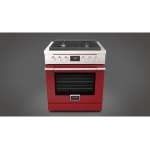 "Fulgor Milano30"" Dual Fuel Range - Glossy Red"