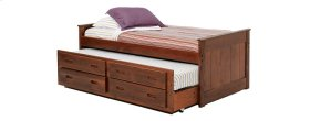 Twin Captains Bed w/Trundle & Drawer
