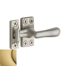 Satin Brass and Brown Casement Fastener