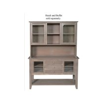 Server with Hutch in Taupe Gray Product Image