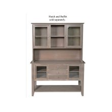 Server with Hutch in Taupe Gray
