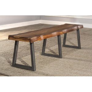 Hillsdale FurnitureEmerson Bench With Manufacture Live Edge - Ctn A - Top Only