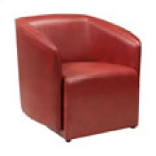 CH-126 Canto Cranberry Leather Recliner