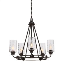 5 Light Chandelier in Old English Bronze