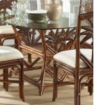 Havana Palm Indoor Rattan & Wicker Rectangular Dining Table Product Image