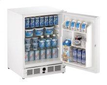 "21"" ADA Solid Door Refrigerator White Solid (Lock) Right-Hand Hinge"