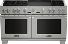 60 Inch Professional Series Pro Grand Commercial Depth Dual Fuel Range PRD606REG