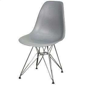 Allen Molded PP Chair Chrome Wire Legs, Gray
