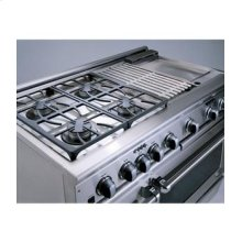 "Brushed Stainless Steel 48"" Prof. Dual Fuel Range"