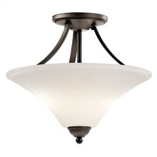 Keiran 2 Light Semi Flush with LED Bulbs Olde Bronze®