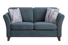Love Seat, Dark Gray Fabric