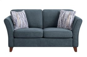 Love Seat, Dark Gray Fabric