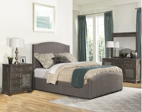 Kerstein Queen Storage Bed Set - Orly Gray