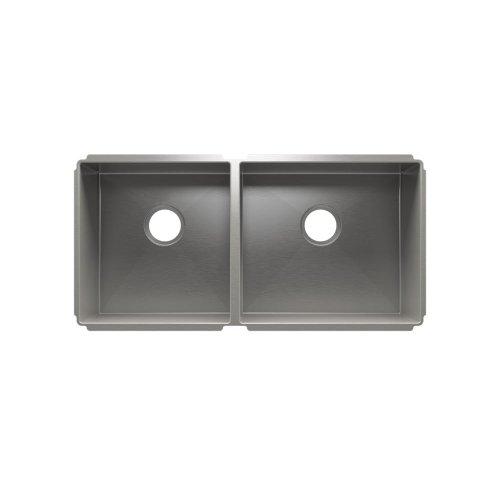"""J7® 003948 - undermount stainless steel Kitchen sink , 15"""" × 16"""" × 8""""  18"""" × 16"""" × 8"""""""