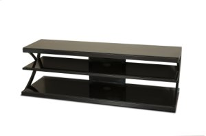 "60"" Wide Stand - Black Glass Top and Shelves - Accommodates Most 65"" and Smaller Flat Panels - No Tools Required"