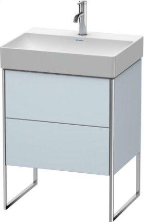 Vanity Unit Floorstanding, Light Blue Satin Matt Lacquer