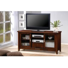 Transitional Warm Brown TV Console