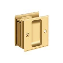 "Pocket Lock, 2 1/2""x 2 3/4"" Passage - PVD Polished Brass"