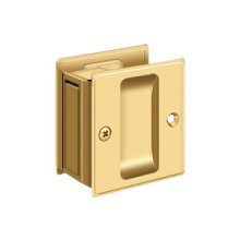 "Pocket Lock, 2 1/2""x 2 3/4"" Passage - PVD Polished Brass"