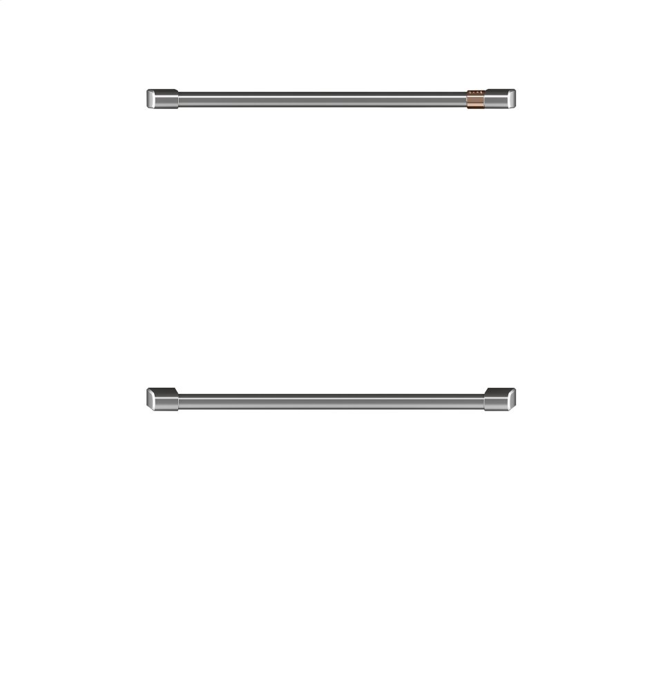 "Caf(eback) 2 - 30"" Double Wall Oven Handles - Brushed Stainless