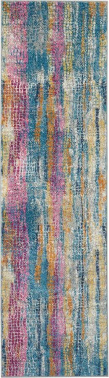 Passion Psn16 Grey/multi Runner 2'2'' X 7'6''