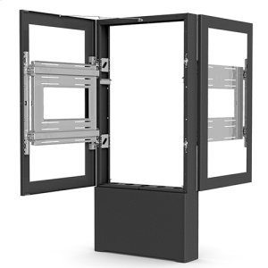 "Chief ManufacturingImpact Floor Mounted Back-to-Back Kiosk, Portrait 49"" Black"