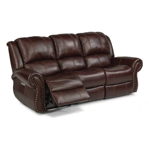 Patton Leather Power Reclining Sofa with Power Headrests