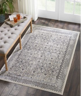 SILVER SCREEN KI342 GREY RECTANGLE RUG 9' x 12'