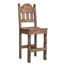 Med Wax Barstool W/wood Seat